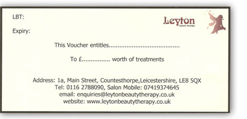 Gift Voucher Leicester